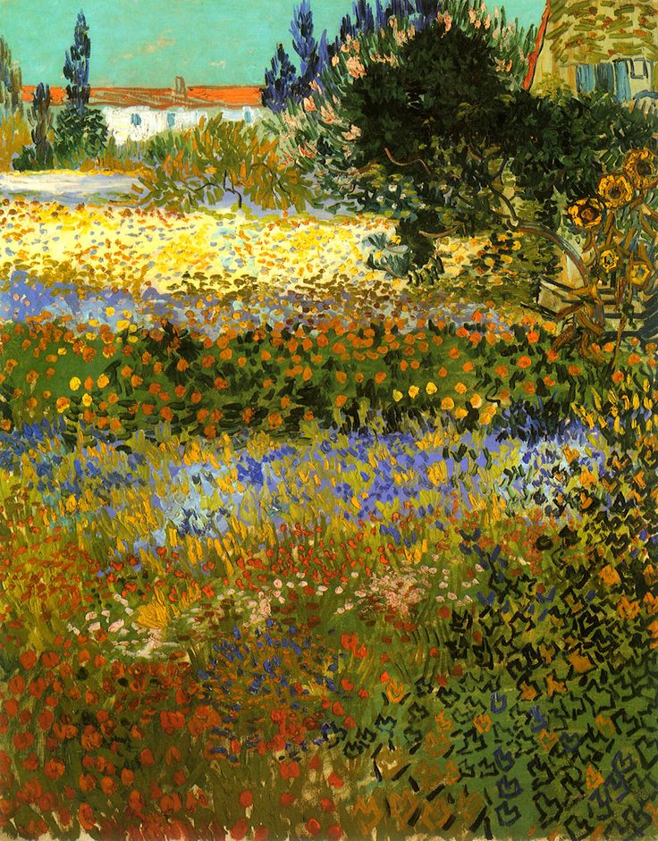 Flowering Garden - : Vincent van Gogh    Completion Date: 1888    Place of Creation: Arles .................#GT