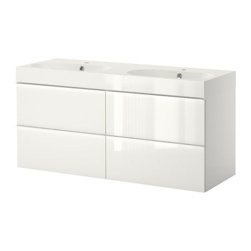 Etagere Expedit Ikea Occasion ~ GODMORGON BRÅVIKEN Sink cabinet with 4 drawers  high gloss white