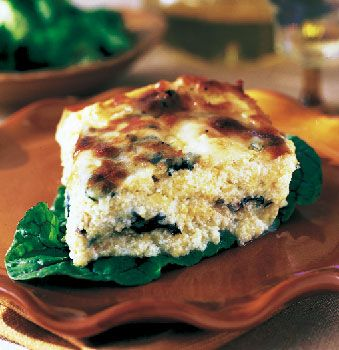 Amazing--Baked Polenta with Swiss Chard and Cheese Recipe at ...