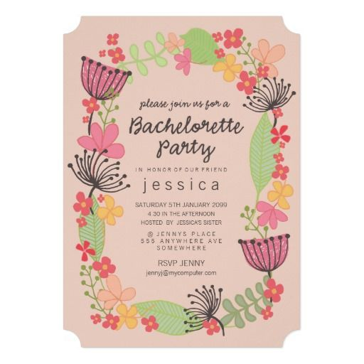 Floral Invitations as awesome invitation template