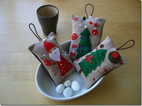 Christmas crafts felt bags crafts pinterest