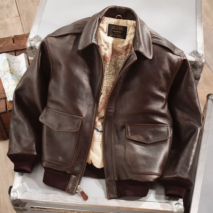 Gift for the pilot - Leather A-2 Flight Jacket | National Geographic