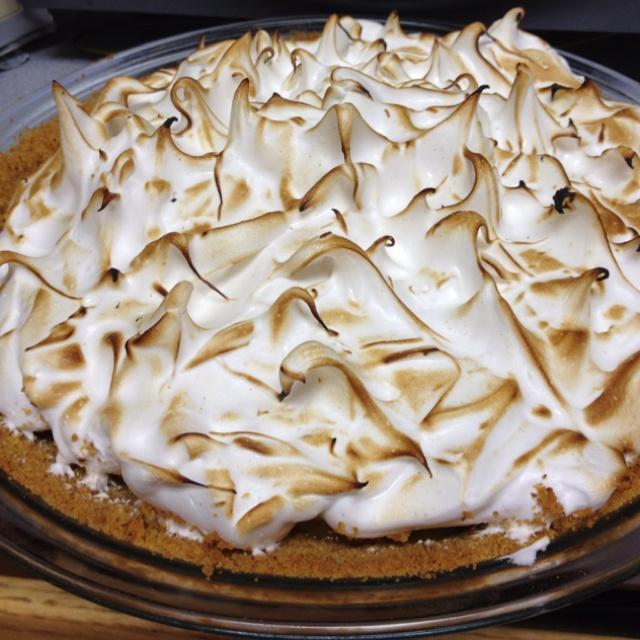 Spices orange meringue pie