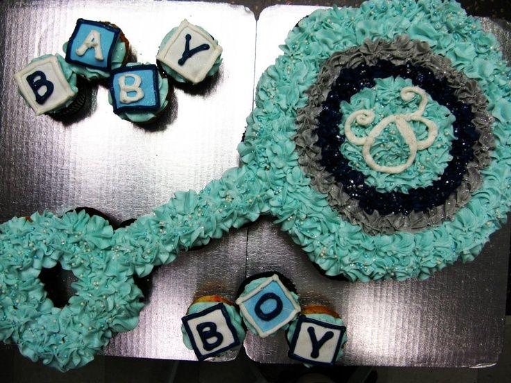 Baby Shower Rattle Cupcake Cake | Cupcakes | Pinterest