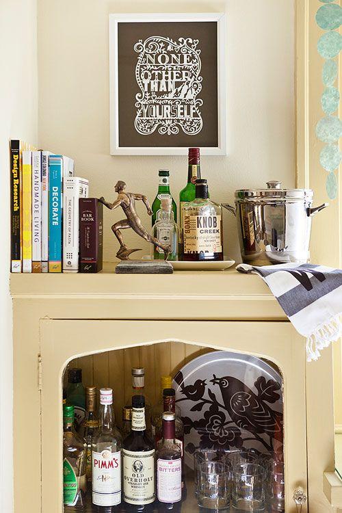 Art + Bar Cabinet via Design Sponge