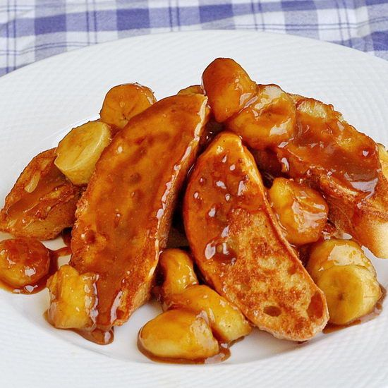 Bananas Foster French Toast | morning wake up | Pinterest