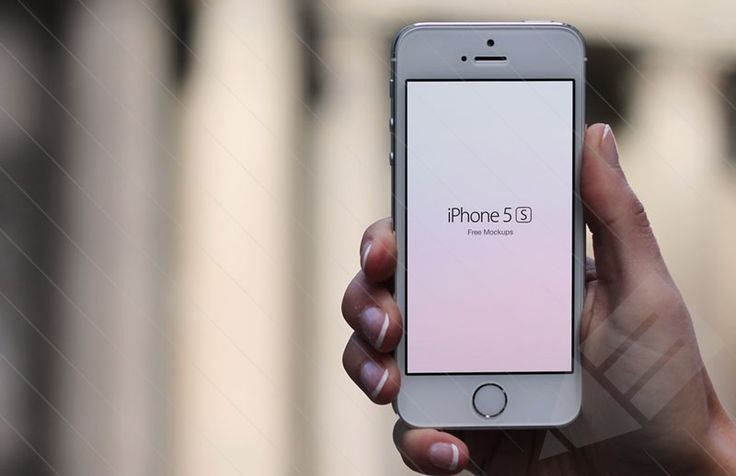 free iPhone 5s being held in hand mockup | PSD | Pinterest