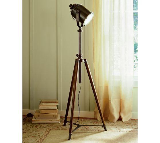 Photographer39s tripod floor lamp for Photographer s tripod floor lamp bronze finish