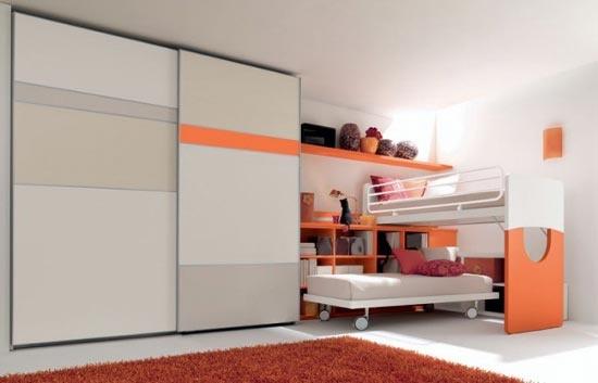 Super Cool Beds : Super cool orange twin beds / bunk setup  Twindividuals  Pinterest