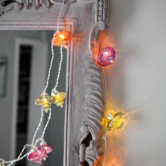 glass lanterns in pastel multi coloured shades lanterns fairylights