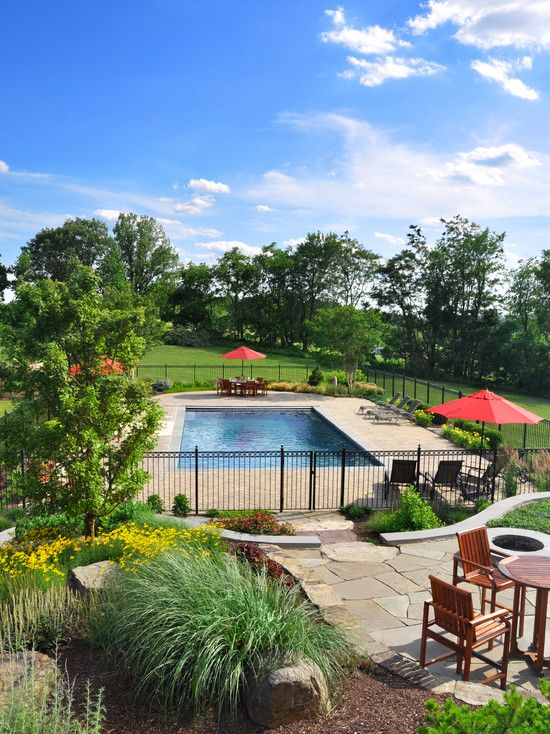 Pool fence and landscaping pools pinterest - Pool fence landscaping ideas ...