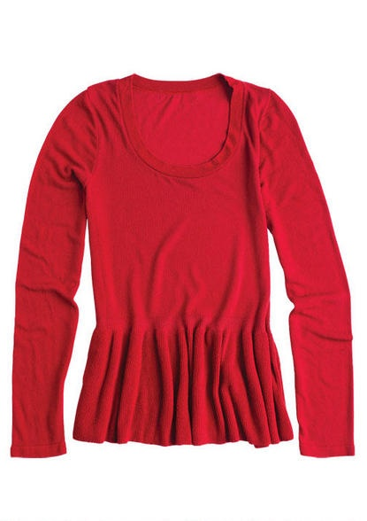 Peplum Sweater Long-Sleeve