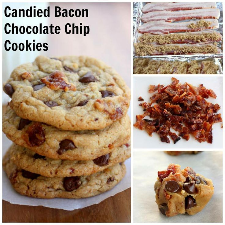 Candied Bacon Chocolate Chip Cookies http://www.tablespoon.com/recipes ...