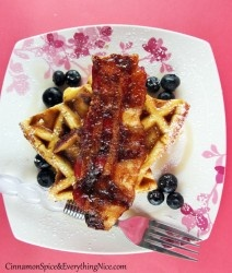 Sunday Breakfast: Granola Waffles with Butter Pecan Syrup