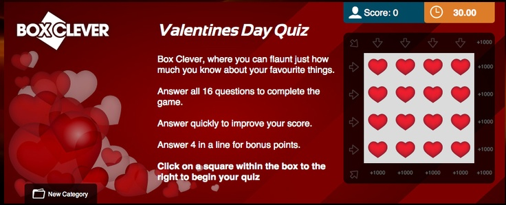 valentine day quiz multiple choice