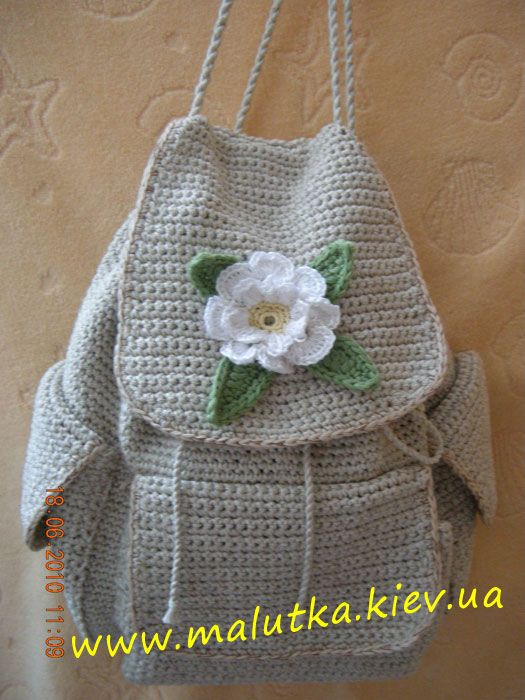 crochet backpack CROCHET BOLSOS Y CARTERAS Pinterest