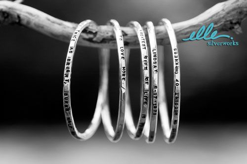 Local KC woman. I'm ordering bangles for myself- one for each child. She customizes, so I can get their name and birthday on each bracelet. I already have a ring. Love.