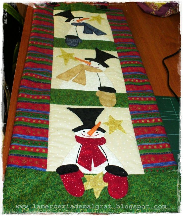 Centro de mesa patchwork labores de navidad pinterest - Mesa de navidad ...