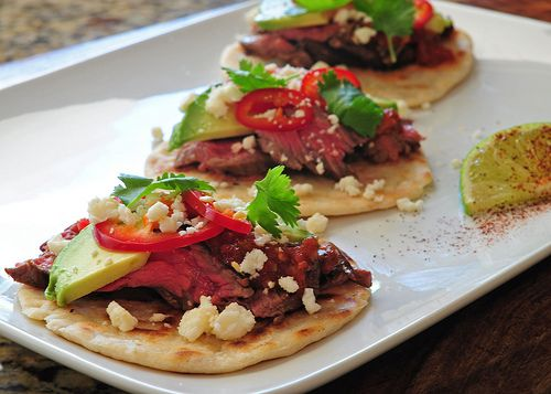 tecate skirt steak tacos by Culinary Crumbs, via Flickr