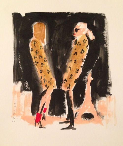 Karl Lagerfeld &  Carine Roitfeld  Illustration by Donald Robertson