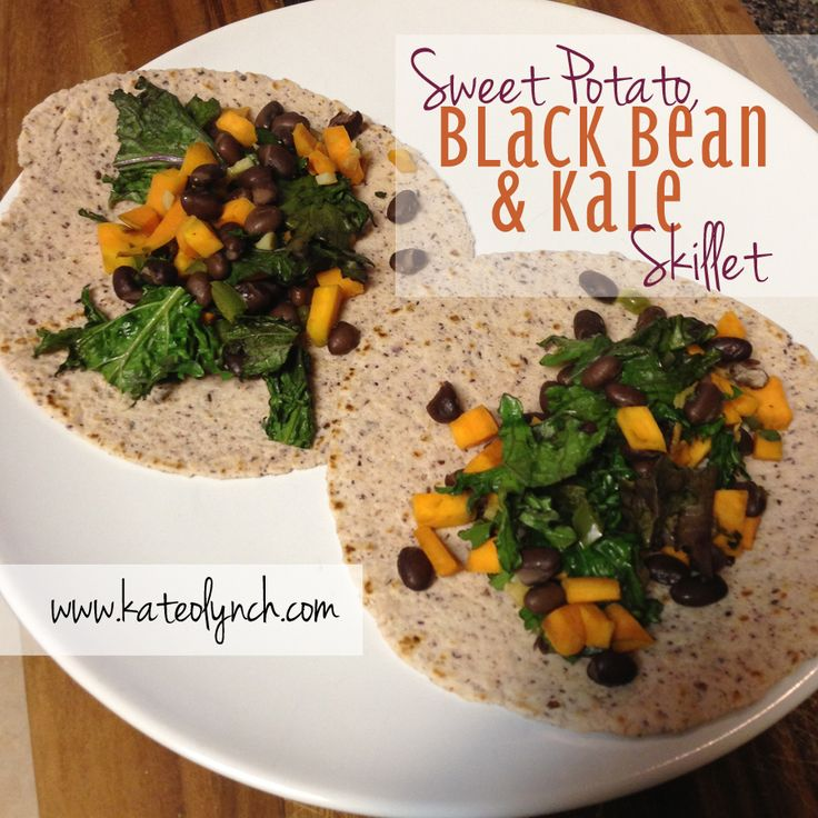 Sweet Potato Black Bean & Kale Skillet | my attempt at clean cooking ...