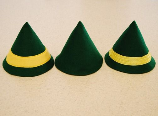 ... with paper or felt :) DIfferent colors and let kids color on them- ELF