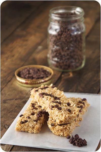 No bake chocolate chip granola bars! | Food Love! | Pinterest