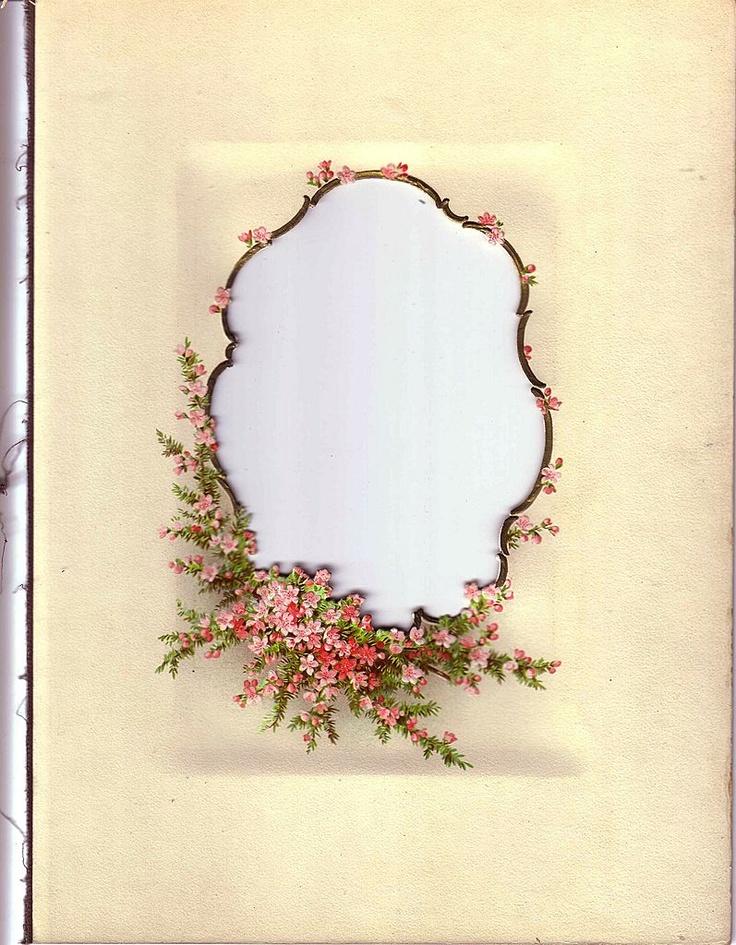 ... - Flowery Oval Shape. | Design - Lovely Frames & Certificates