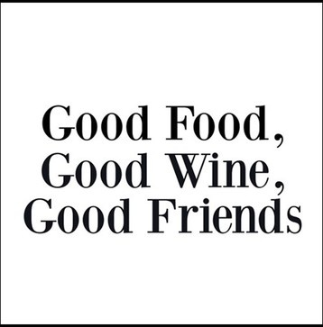 Image result for food wine friends