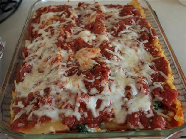 Portabella Mushroom With Spinach and Feta Lasagna (Vegetarian) | Reci ...