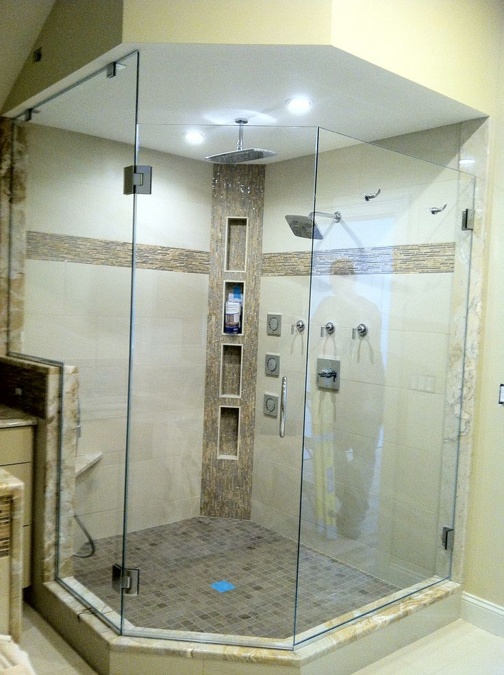 Corner Glass Shower Luxury Showers Pinterest
