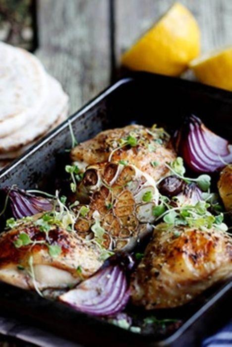 Greek Chicken Bake with Tzatziki | Recipes | Pinterest