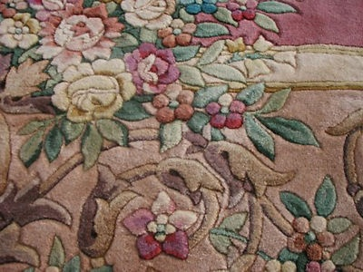 RRA 12x18 Pink / Rose Aubusson Rug Carpet Floral 29737   eBay