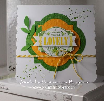 Yvonne's Stampin' & Scrap Blog: I think you're lovely card Stampin' Up!