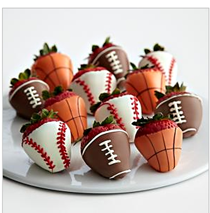 sports theme dipped strawberries | FOODGASM - Fruitsational | Pintere ...