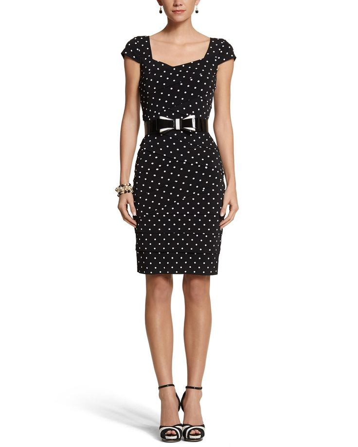 Instantly Slimming Dot Tiered Dress