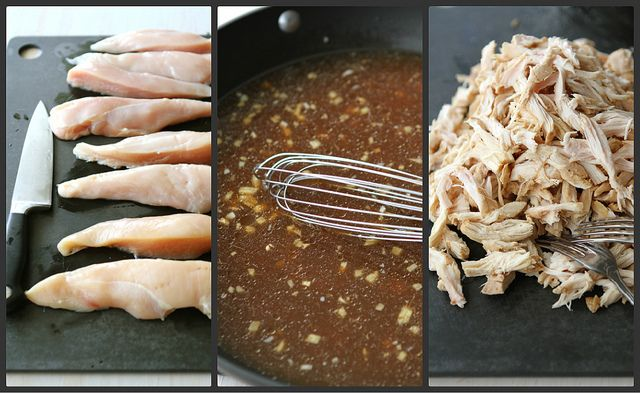 Slow Cooker Hoisin Shredded Chicken Sandwich Recipe with Asian Slaw by ...