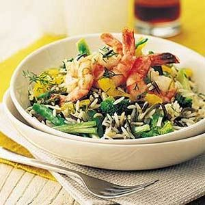 Rice with shrimp and dill dressing. | Recipes | Pinterest
