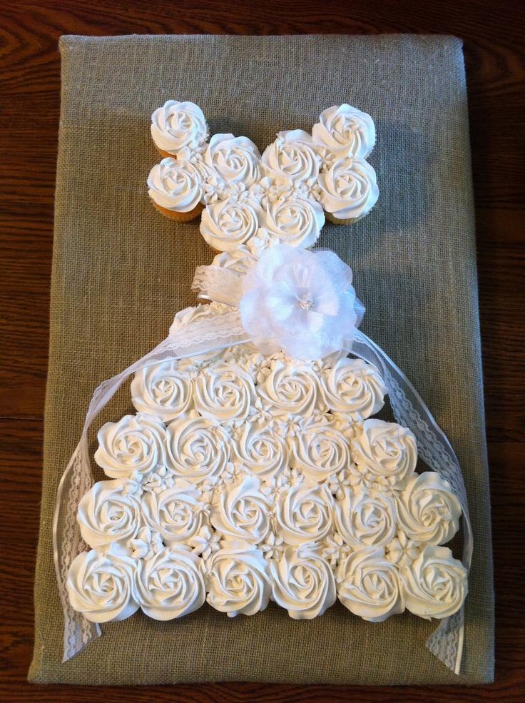 Wedding dress cupcake cake cakes by meridyth pinterest for Wedding dress cupcake cake