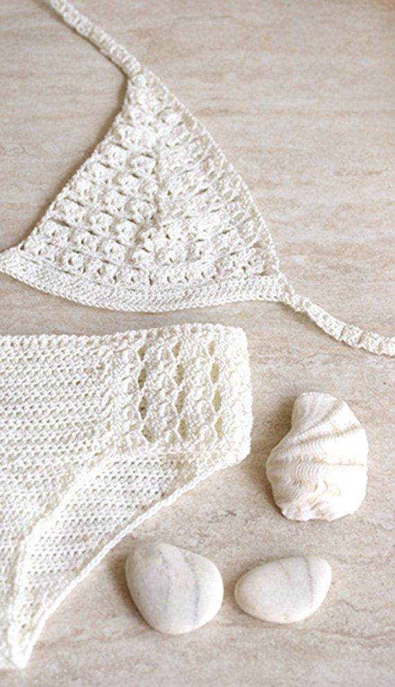 Crochet Bikini : ... crochet with microfibre thread, Crochet swimwear, Vintage crochet lace