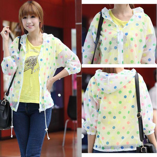939 summer sun protection clothing women's polka dot sun shirt