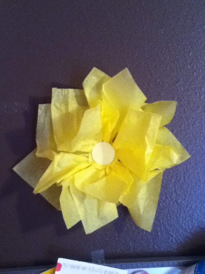 Diy Wall Art Tissue Paper : Diy flower wall art using tissue paper