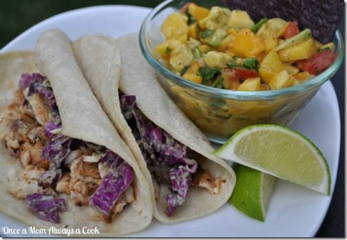 Grilled Fish Tacos | All things Tropical and Coconut | Pinterest
