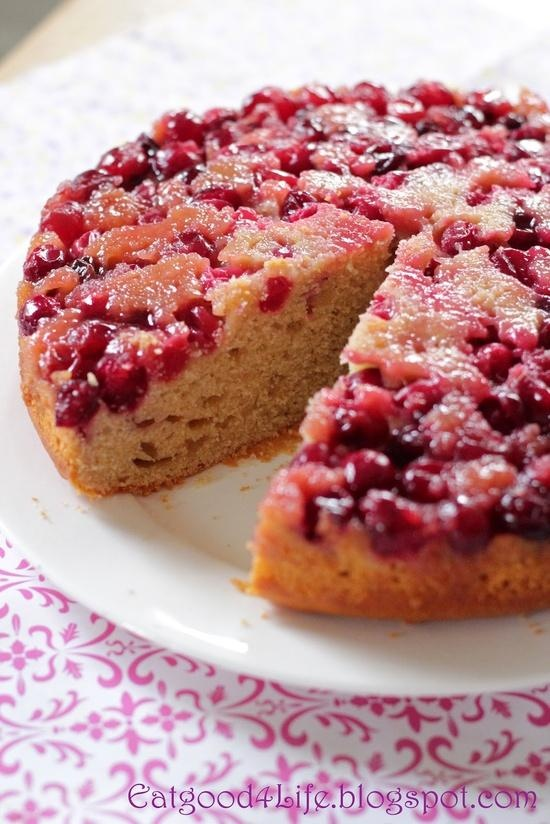 Honey Upside Down Cranberry Cake | Food | Pinterest