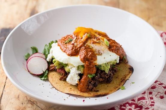 Huevos Rancheros With Smoky Spicy Guacamole and Grain-Free Tortillas