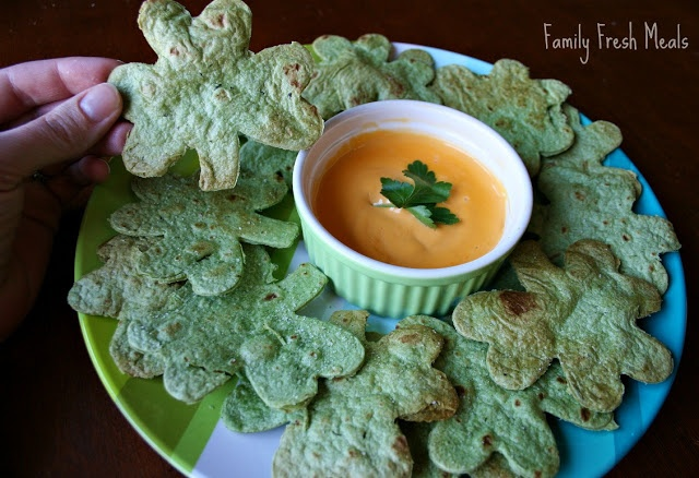 EASY Homemade Tortilla Chips St. Patrick's Day