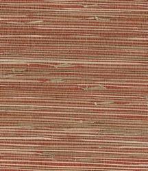 Red grasscloth wallpaper. 63 65661   Shangri La by Kenneth James