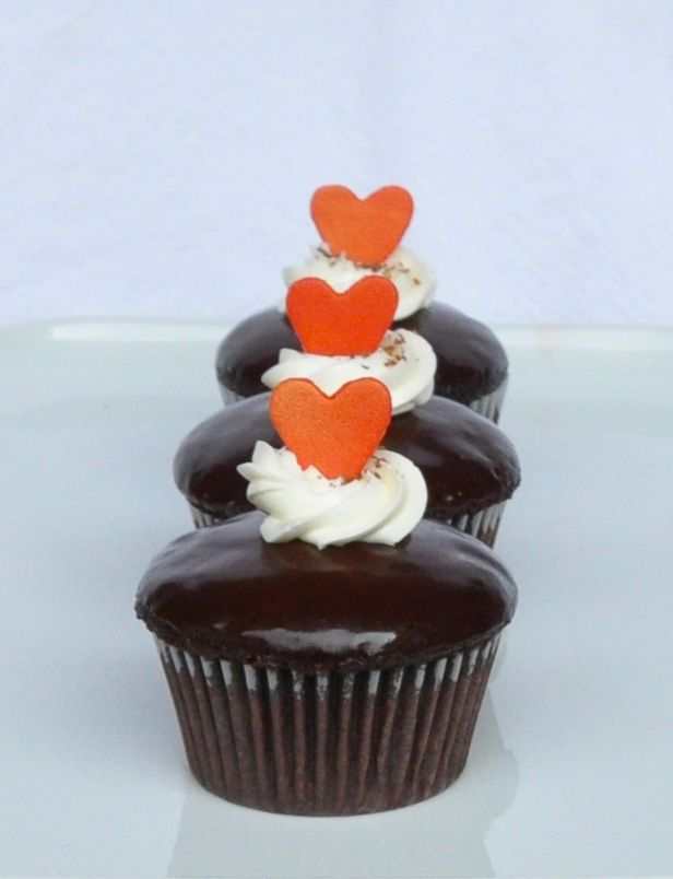 Spicy Chocolate Valentine Cupcakes filled with Cinnamon Cream Cheese ...