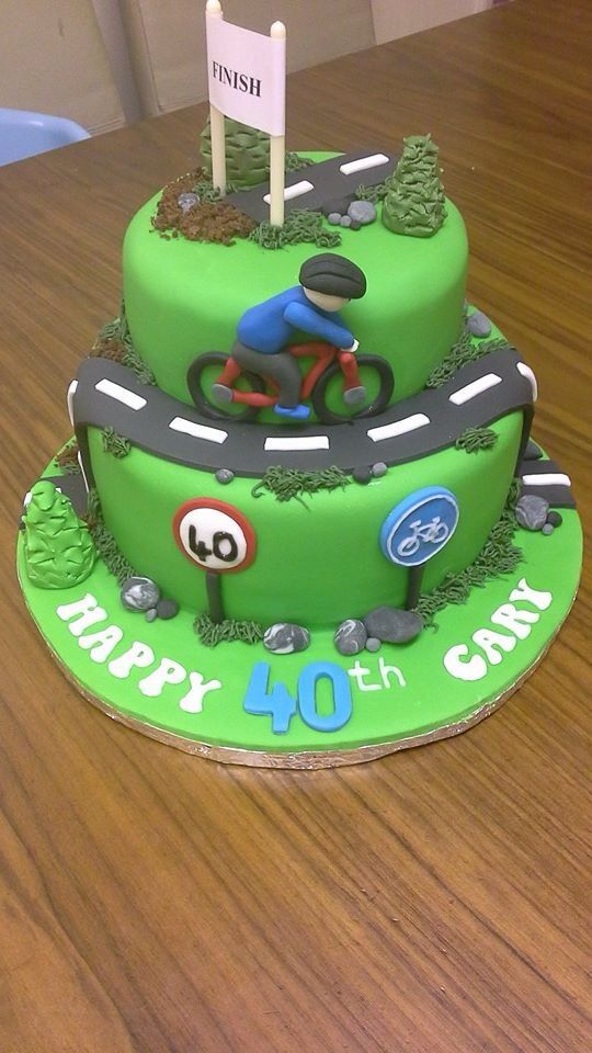 Cycling cake Cakes Pinterest