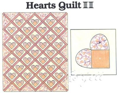 quilt heart applique on Etsy, a global handmade and